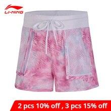Li-ning femmes la tendance Sport Shorts coupe régulière 100% Polyester respirant doublure Li Ning confort Sport Shorts AKSN072 WKD568