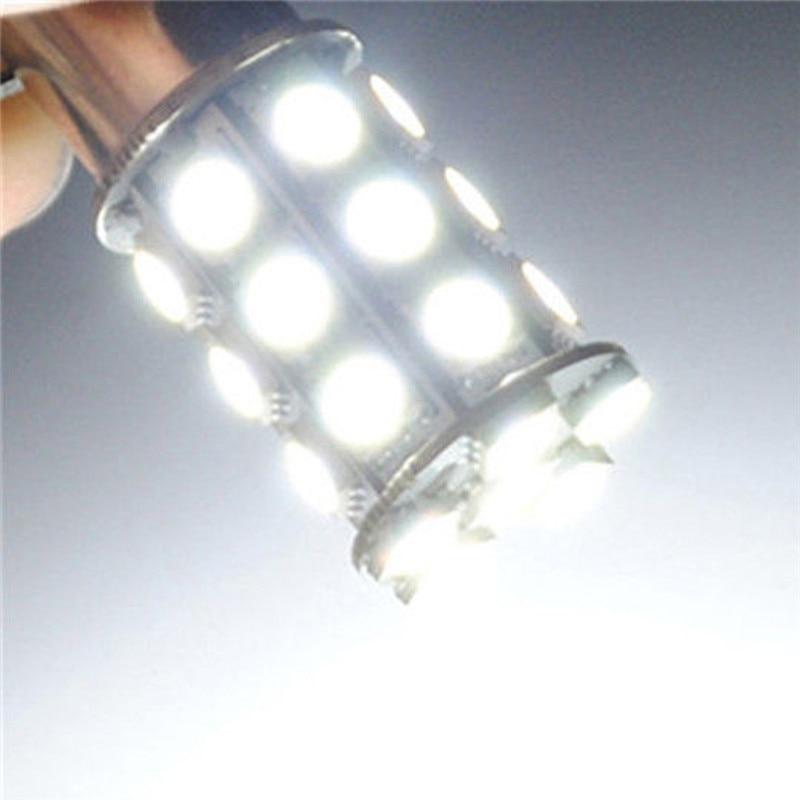 2 шт. 12V светодиодный 1157 Белый BAY15D P21/5 Вт 27SMD 5050 Автомобильные задние стоп-сигналы лампа популярные