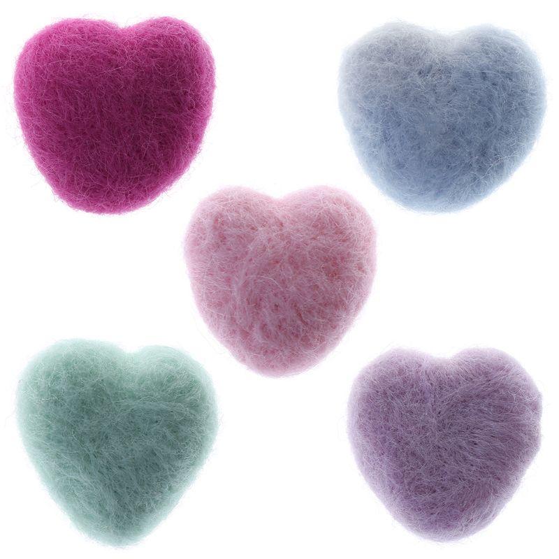 Woolen Heart Newborn Heart Shape Stuffed Baby Photography Props Photo Shot DIY Headdress Hair Band Hat Clothing Decoration