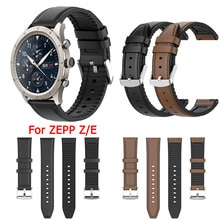 Genuine Leather Band For Amazfit Zepp Z E Wrist Strap For Xiaomi Zepp Z E Replacement Silicone Brace