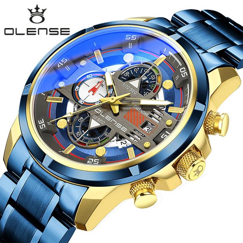 Marcas de Topo Relógio à Prova Relógio de Pulso Relógio de Quartzo Novas Homem Dwaterproof Água Masculino Luminoso Aço Inoxidável Esporte Cronógrafo Reloj Hombre