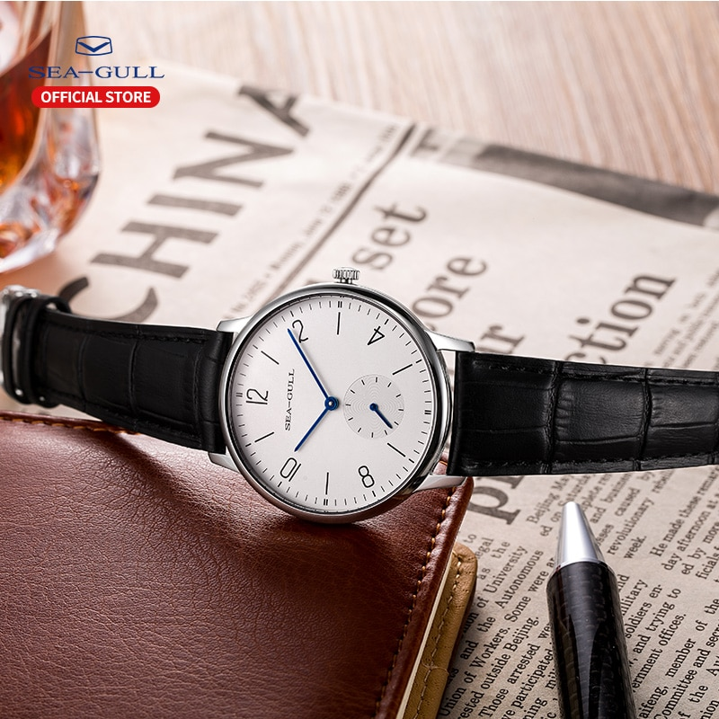 Seagull Brand Watch ultra-thin mechanical watch ladies watch fashion business leather watch D819.612L enlarge