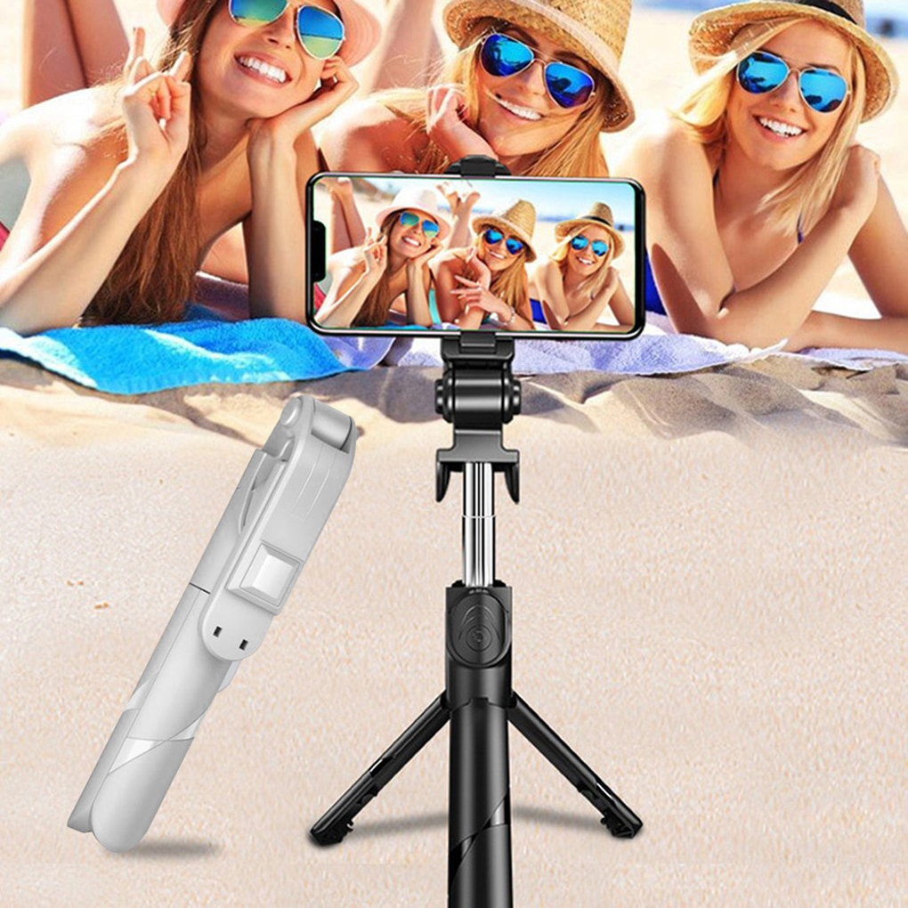 3 In 1 Selfie Stick Phone Tripod Extendable Monopod with Bluetooth Remote for Smartphone Selfie Stick