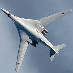Russo soviético tupolev Tu-160 avião de batalha diy 3d papel modelo de construção kit papelão arte artesanato criança brinquedos educativos puzzle