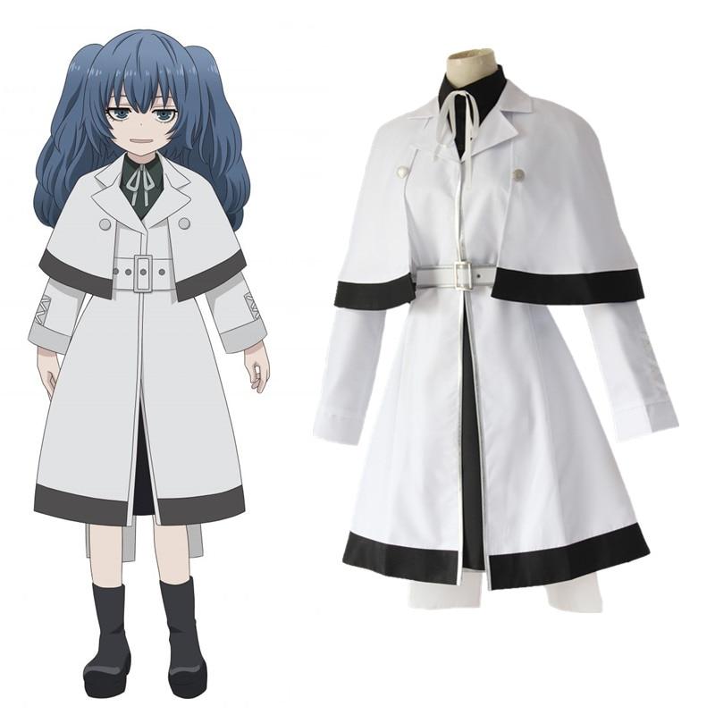 2019 Anime Tokyo Ghoul tokyo ghoul de las mujeres de uniforme blanco capa de Cosplay disfraces Yonebayashi Saiko Cosplay disfraces de Halloween