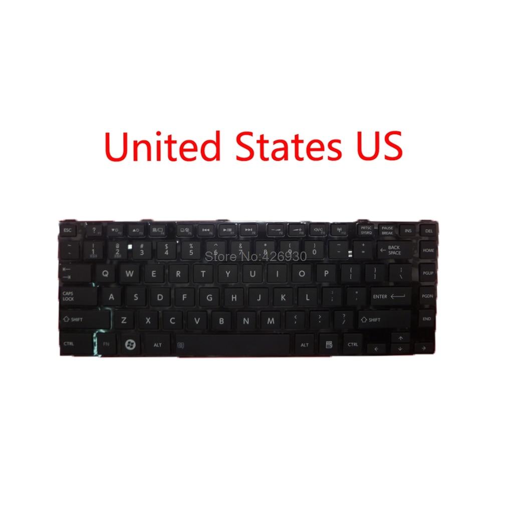 Portátil eua uk tr fr ca kr jp teclado para toshiba para satélite l800 inglês reino unido turquia canadá francês coreia do japão novo