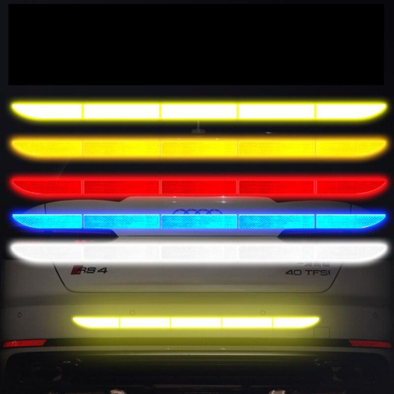 Para BMW f31 f10 x5 e70 e60 e34 e46 335d parachoques de coche reflectante cinta de cinta adhesiva de alta reflectante Auto accesorios exteriores