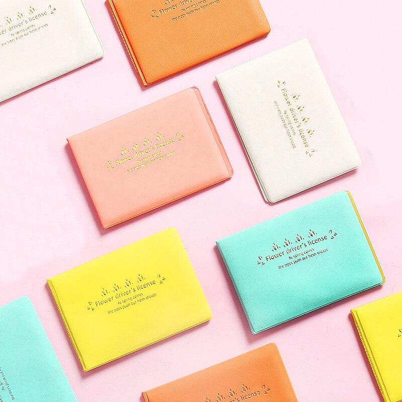 1 Uds., Color caramelo, bolsa para Auto para licencia de conducir, piel sintética, cubierta para documentos de conducción de automóviles, tarjetero, monedero, funda tipo billetera