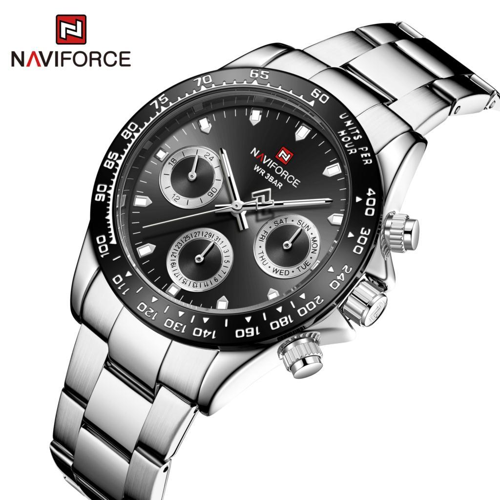 ساعة رجالية NAVIFORCE ساعة الأعمال ساعة كوارتز ساعة المعصم الذكور Luxruy الرياضة الكلاسيكية على مدار الساعة العلامة التجارية الأعلى Waterpoof Relogio