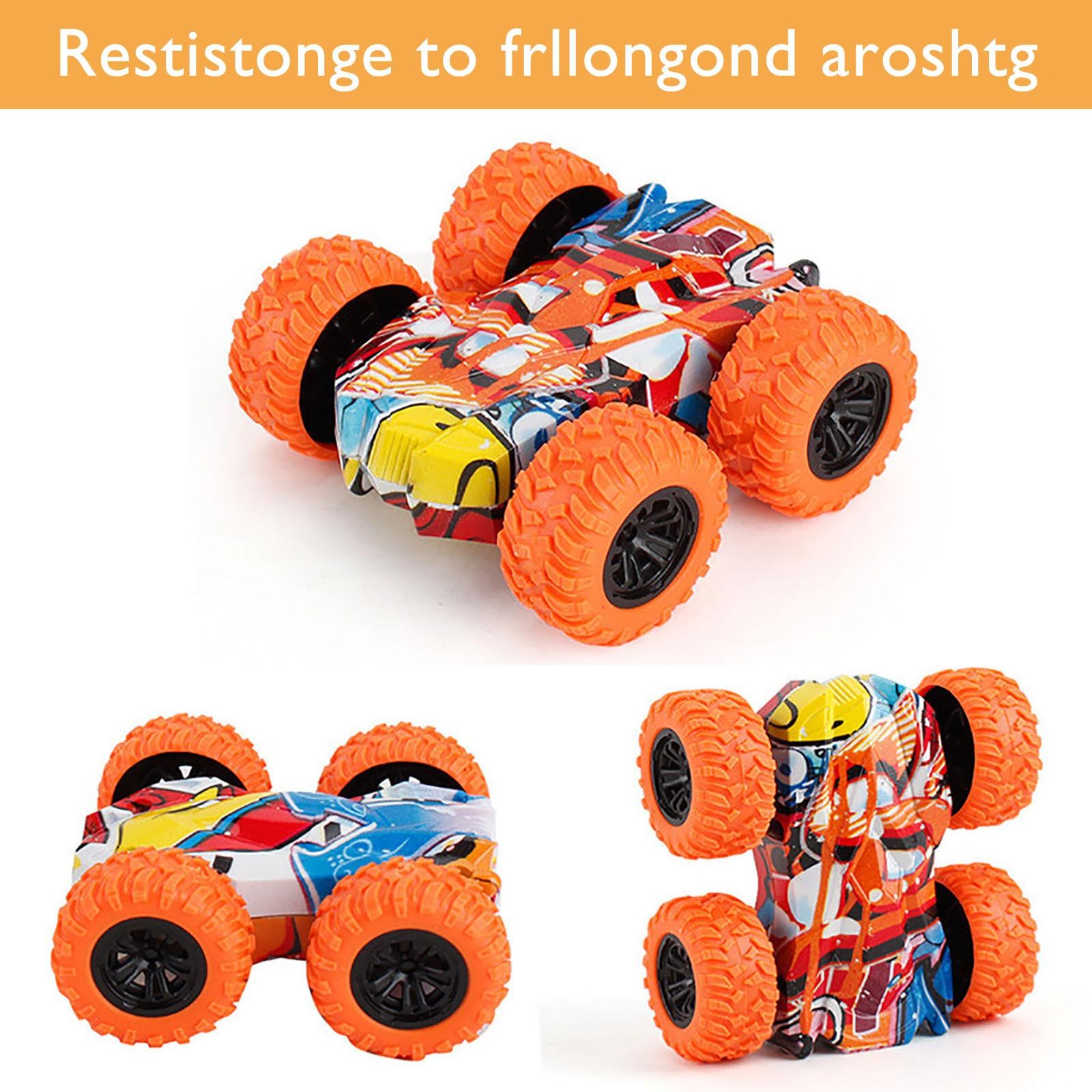 игрушки RC Inertia-Double Side Stunt Graffiti Roll Car Rotating RC Car Toy Off-Road Model Car