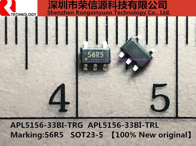20 pçs/lote APL5156-33BI-TRL APL5156-33BI-TRG APL5156-33BI-TR APL5156-33BI Marcação 56R5 SOT23-5 100% original Novo