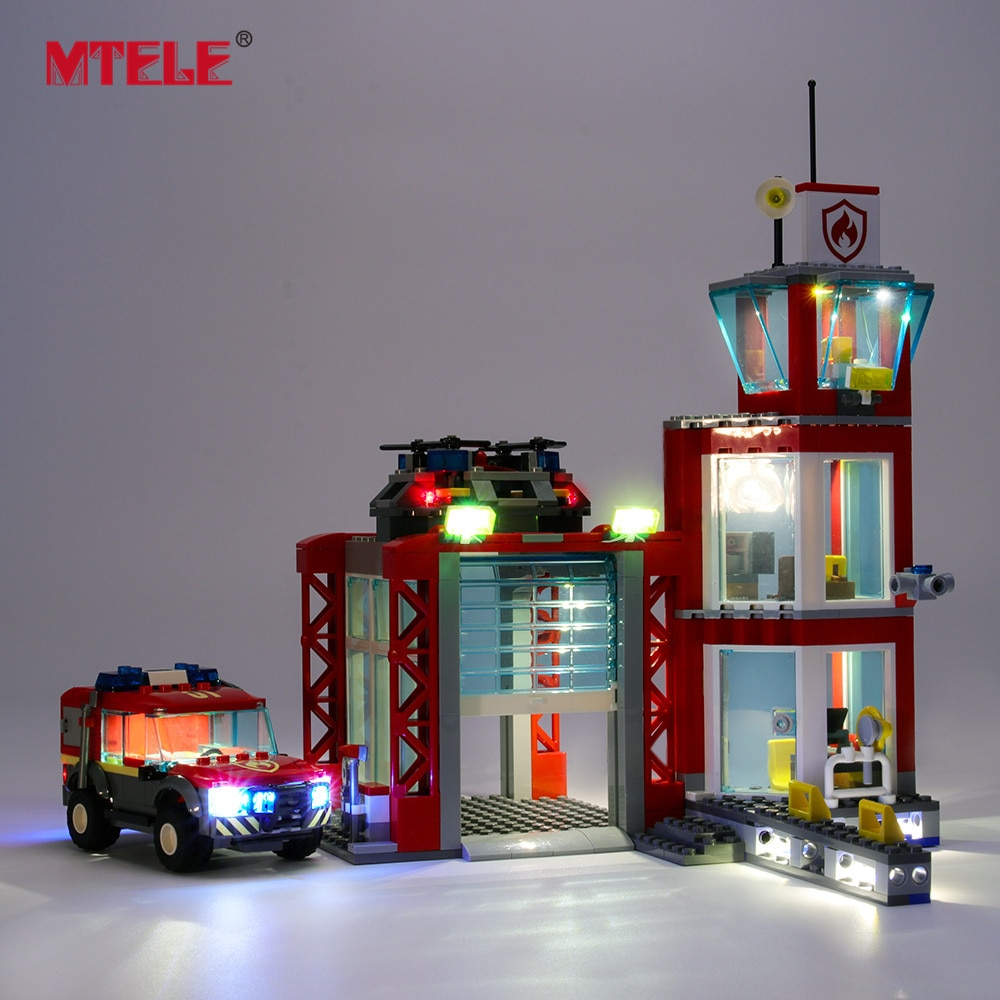 MTELE LED Light Kit for 60215 City Series Fire Station (NOT Include The Model)
