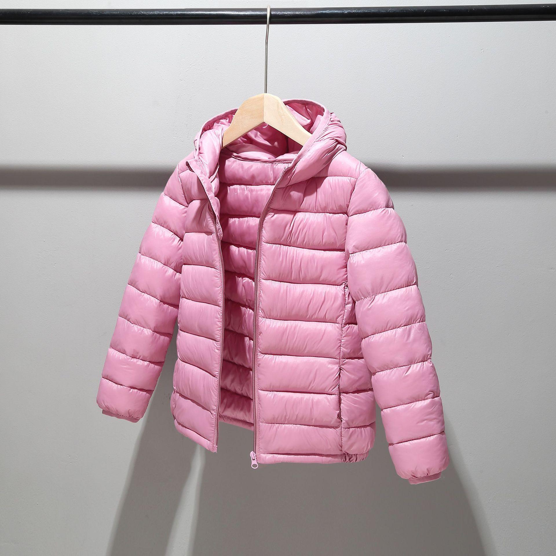 Winter Down Cotton Jacket Boy Girl Hooded Outerwear Coat Boys Snowsuit Kid Ultra Light Coat Children