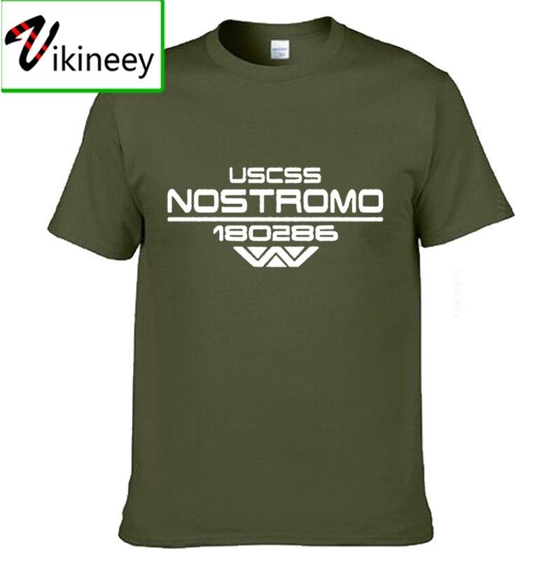 Nostromo alienígena extranjeros de ciencia ficción homenaje día de Navidad, camiseta para hombre divertido Camiseta de algodón de verano de camiseta Diy Tops