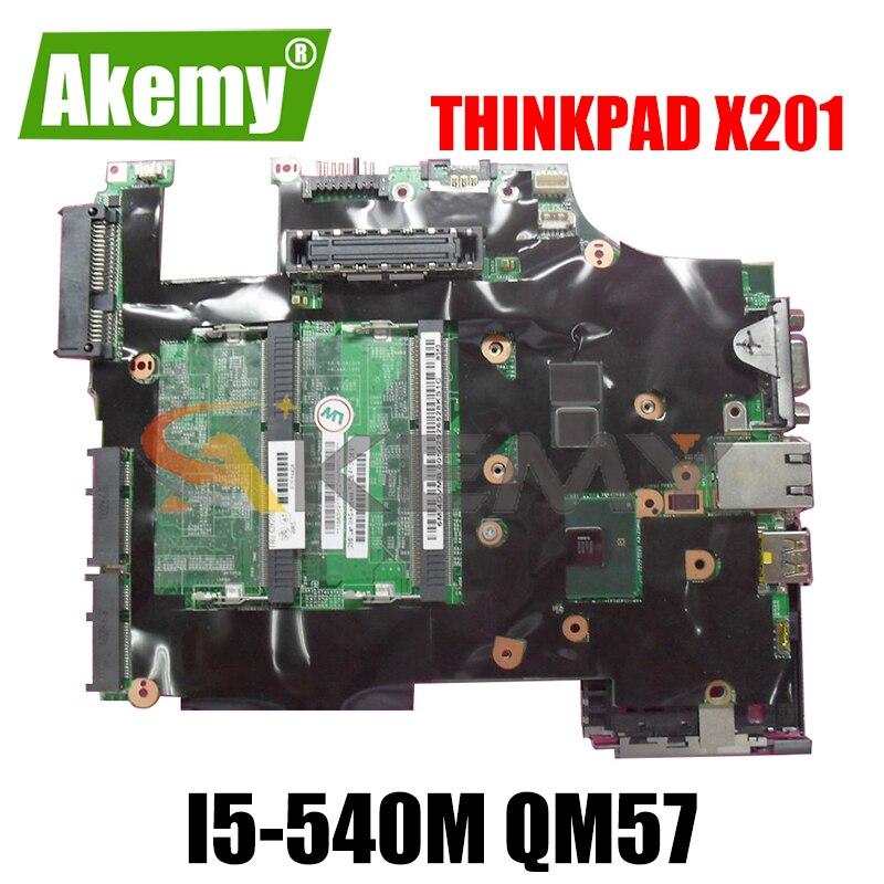 Akemy 48.4CV01.031 لينوفو ثينك باد X201 X201i اللوحة الأم لأجهزة الكمبيوتر المحمول FRU 63Y2064 CPU i5-540M QM57 DDR3 100% اختبار