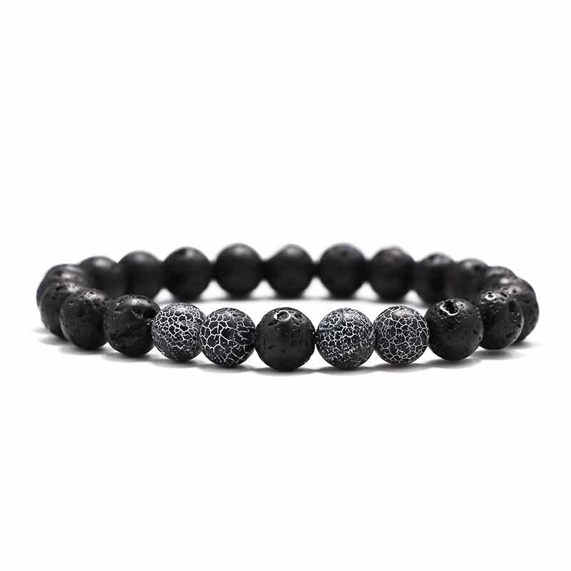 Купить с кэшбэком Balance Lava Stone Bracelet for Men Handmade Bead Bracelets for Women Charm Jewelry Homme Yoga Jewelry Gift 2019 Pulsera Hombre