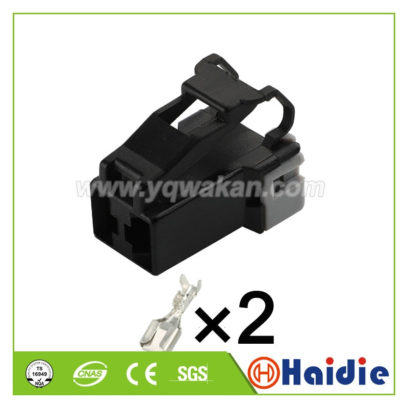 Free shipping 5sets 2pin auto electric plastic connector plug wiring cable unsealed connector 7123-6