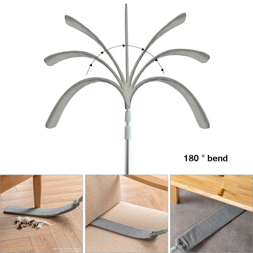 Bedside Dust Brush Crevice Retractable Bed Bottom Gap Long Handle Magic Microfiber Dust Clean Artifact Household Hair Sweeping enlarge