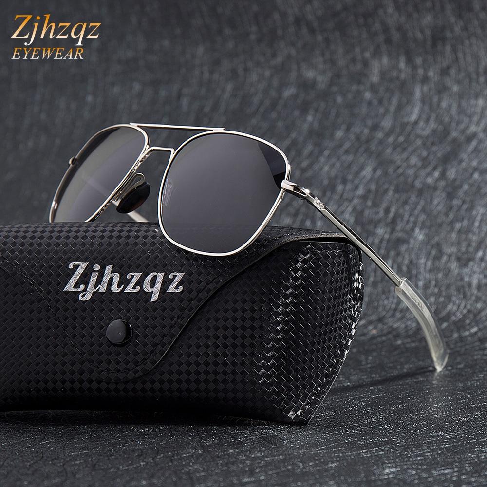 Fashion Black American Army Military Polarized Pilot Sunglasses Mens Brand American Optical Polarize