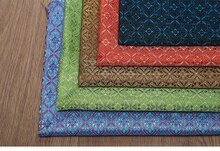 50x75cm Simulation Silk Imitation Three Five Brocade Jacquard Fabric Four-corner Flower Bag Pillow Cushion Hanfu Diy Cloth