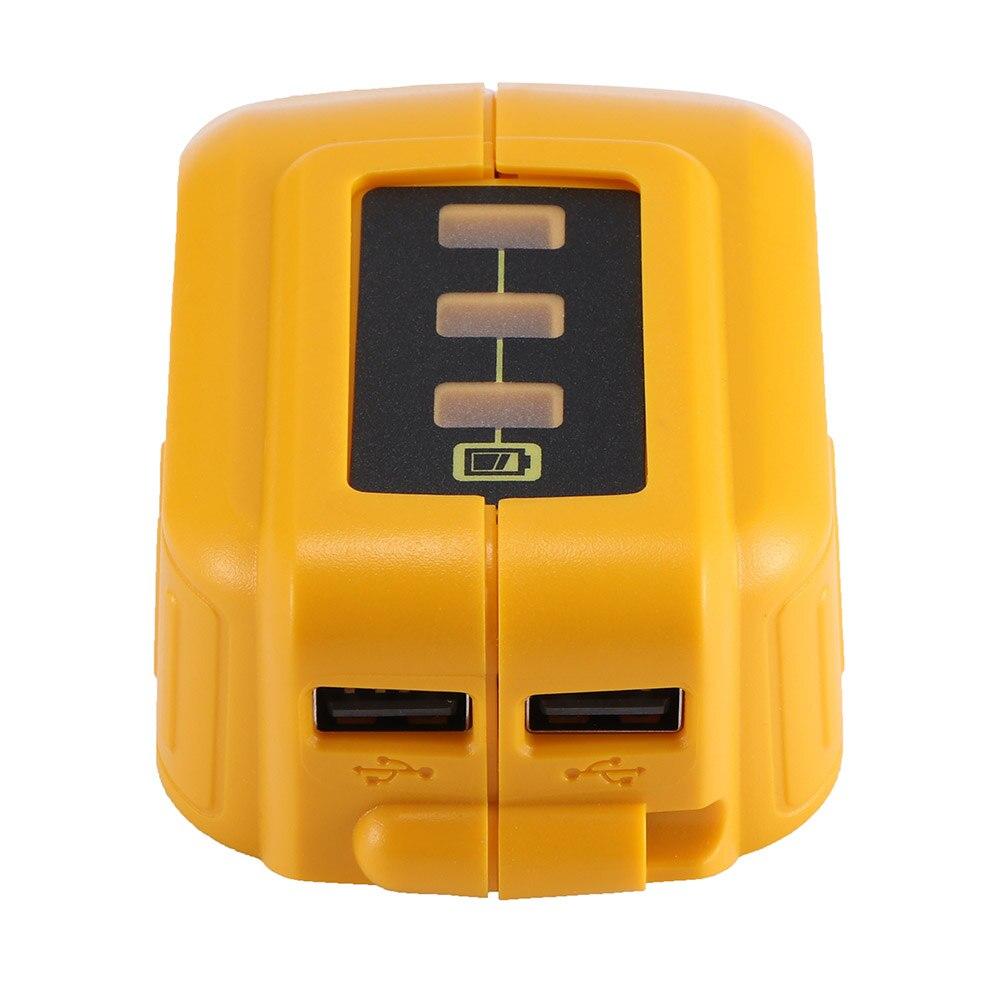 Adaptador USB, cargador, convertidor para DEWALT 14,4 V 18V 20V batería de Li-Ion DCB090 pared portátil cargador de cargador rápido