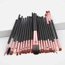 20 pièces pinceaux de maquillage fard à paupières Rouge à lèvres fond de teint liquide Mascara brosses cosmétiques outils de beauté Maquiagem Kits de brosse