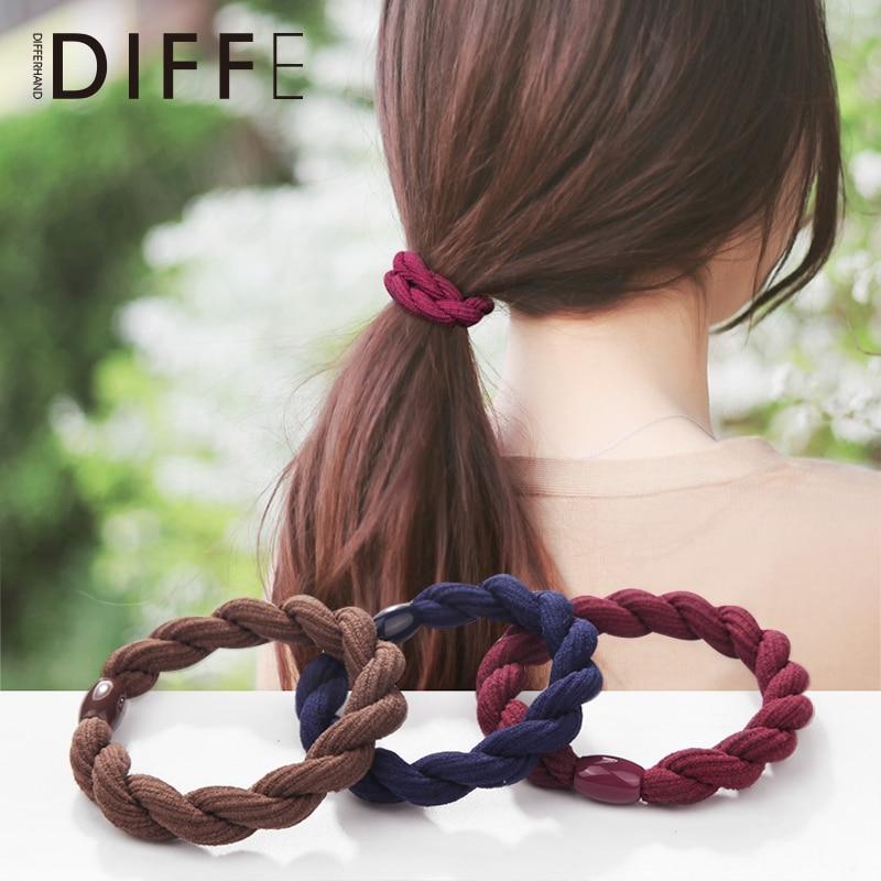 3 Hair Bands Korean Head Rope Fresh Mori Girl Line Hair Rope Simple Adult Thick High Elastic Rubber