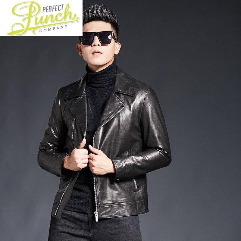 Goatskin ريال سترات من الجلد الرجال الملابس معطف جلد طبيعي رجالي الكورية ملابس الشارع الشهير chaiyas Hombre SQQ314