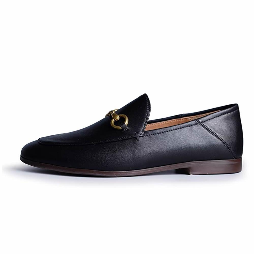 المرأة الفاخرة أحذية جلدية بدون كعب المرأة الانزلاق على أحذية مسطحة جولة تو في الهواء الطلق البغال الراحة متعطل السيدات Handmand أحذية عمل 2021