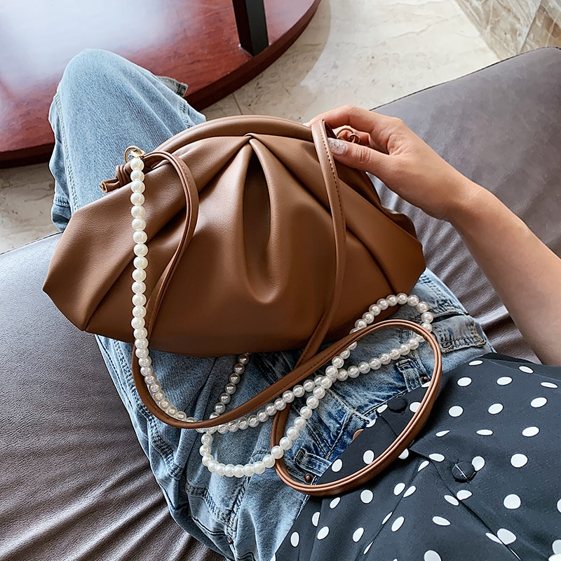 Bag For Women Retro Cloud bag Soft Leather Hobos Single Shoulder Purses Women Crossbody Bag Luxury Handbag And Purse Day Clutch