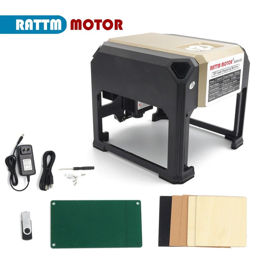 【EU】3W Mini Laser Engraving Marking Machine For wood plastic leather Ceramics / DIY Logo enlarge
