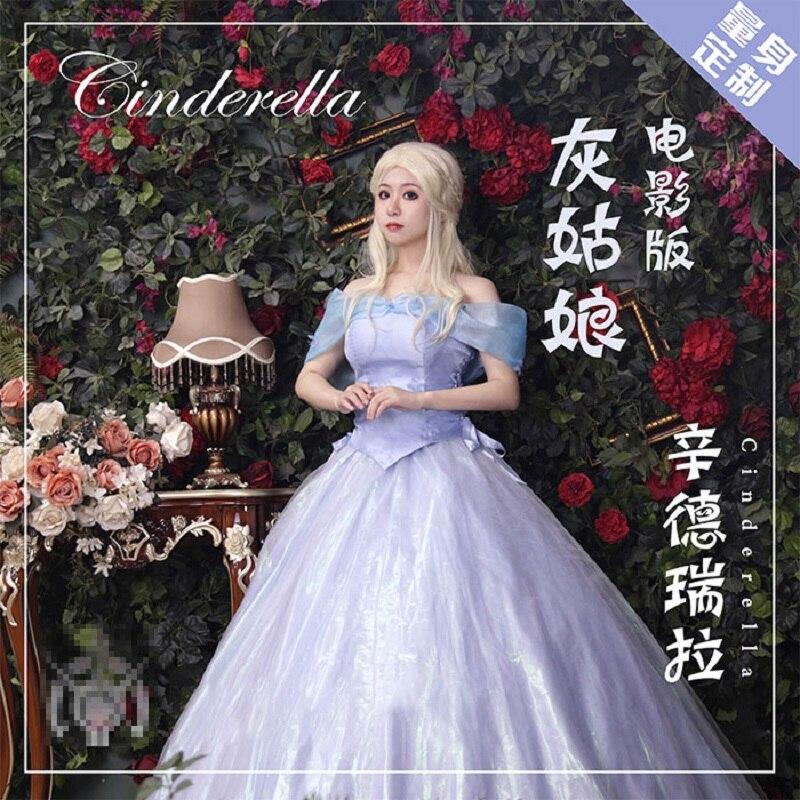 فيلم سندريلا الأميرة زي هالوين تنكري فستان لطيف التخصيص