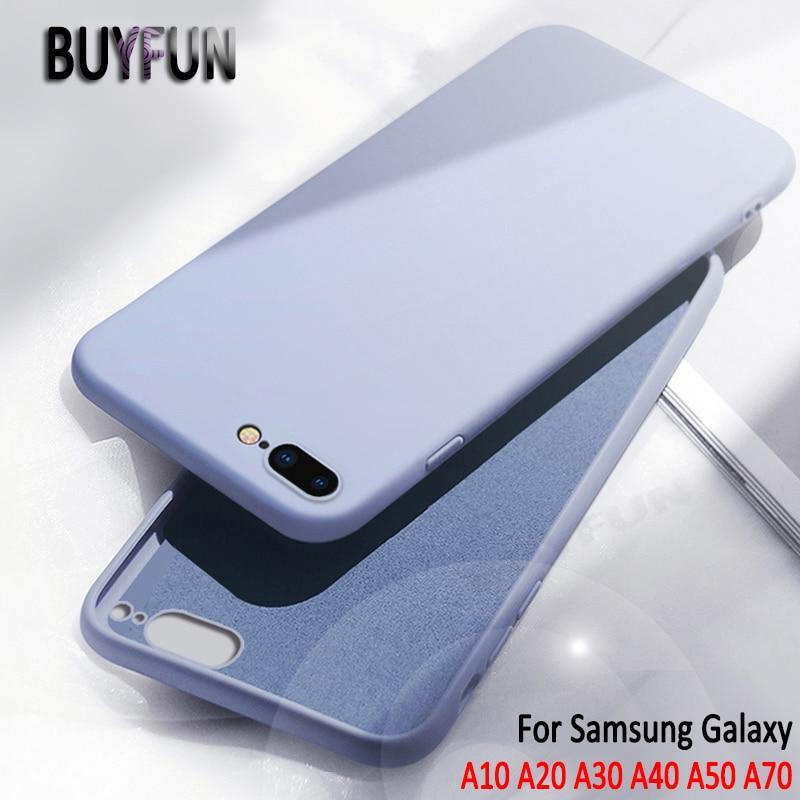 Caso para Samsung Galaxy A10 A20 A30 A40 A50 A70 líquida suave de silicona para Samsung 10 20 30 50 70 teléfono móvil TPU funda trasera suave