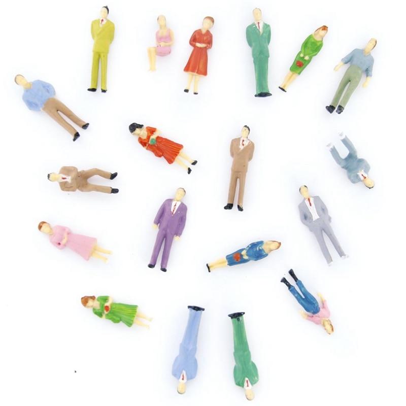 100 Uds. Modelo pintado tren figuras de personas escala O (1 a 50)