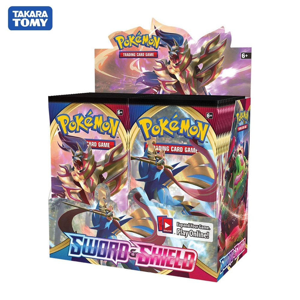 324 pçs pokemon cartões sun & moon espada & escudo pokemones cartões para funs presente crianças versão inglês brinquedo negociação brilhando cartões