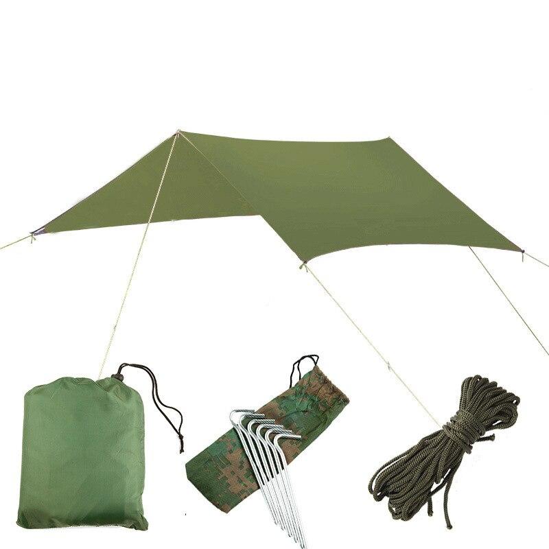مظلة متعددة الوظائف في الهواء الطلق ، عريشة الشاطئ مقاوم للماء وواقية من الشمس ، خيمة ظلة ، حصيرة خفيفة ومقاومة للرطوبة