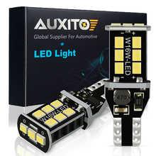 Автомобильная светодиодная лампа AUXITO, 2 шт., 12 В, T15, W16W, Canbus, без ошибок, резервные огни, 921, 912, W16W светодиодный лампы, автомобильная лампа задне...