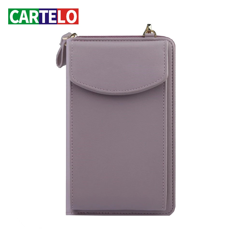 CARTELO neue frauen umhängetasche, große kapazität damen brieftasche, weiche leder zipper tasche, Koreanische version, brieftasche