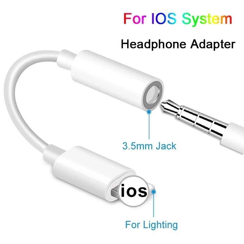 Rayo a Adaptador Jack 3,5mm auriculares convertir para iPhone 12 11 Pro...