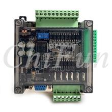 Haute vitesse DC24V FX1N FX2N FX3U-14MT/10MT RS485 RTU 8 entrée 6 transistor sortie PLC carte de commande industrielle 6AD 2DA avec coque