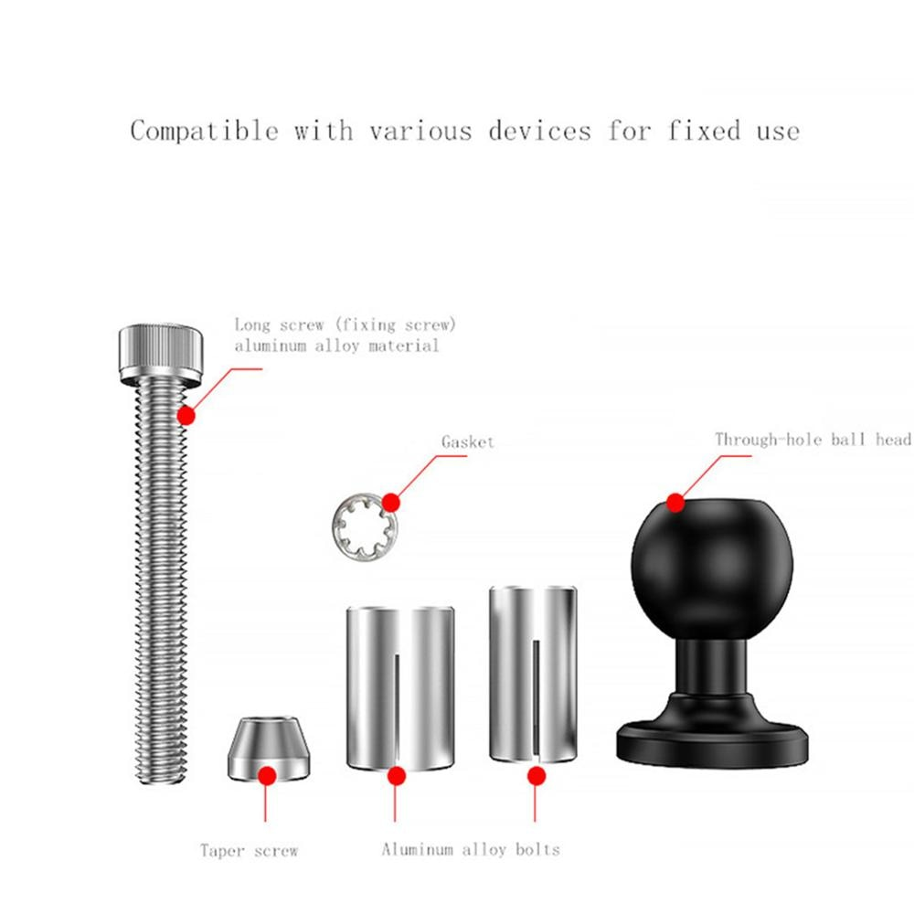 smallrig cool ball head v1 multi function double ball head with shoe mount Brand New Aluminum Base Rubber Motorcycle Bike Mount Black Fork Stem Base with Ball Head for Mount for G-opro Ball Mount Adapter