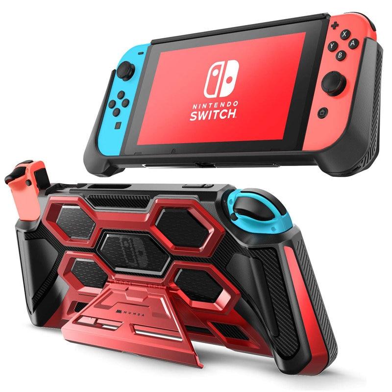 For Nintendo Switch Case MUMBA Battle Series Heavy Duty Grip Cover For Nintendo Switch Console with Comfort Padded Hand Grips