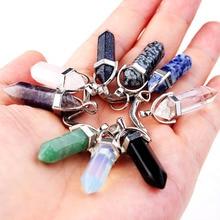 Mode pierre naturelle pendentif porte-clés géométrique porte-clés rose cristal porte-clés goutte deau forme bijoux accessoires