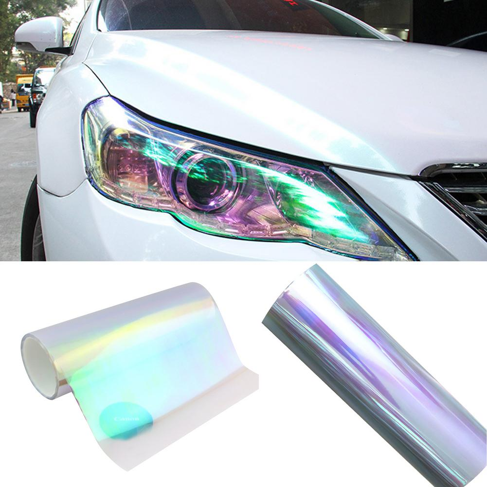 30x60CM Car Colorful Styling Lamp Taillight Protective Film Sticker Membrane Auto Exterior Accessories Drop Shipping Hot diy protective 3 layer polyurethane membrane film for car auto lamp yellow 100 x 40cm