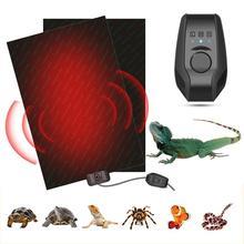 Tapis chauffant Reptile tapis chauffant Terrarium réglage à trois vitesses coussin chauffant chauffant pour tortues de compagnie serpent lézard Hamster