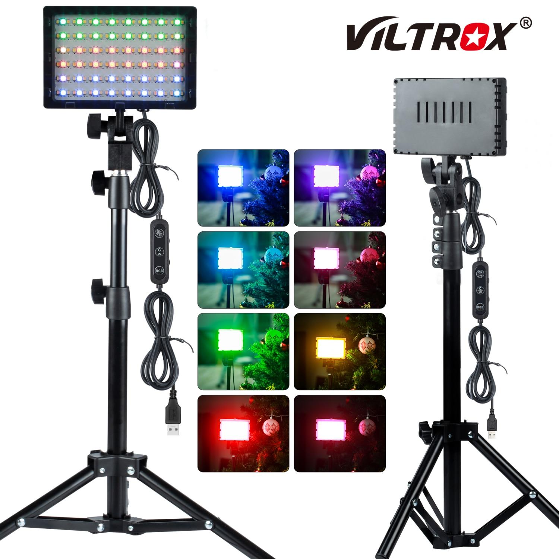 Viltrox 2 مجموعة RGB LED الفيديو منضدية ضوء عدة 2600K-6000K USB بالطاقة ملء ضوء ل Tiktok/يوتيوب/صور فيديو استوديو اطلاق النار