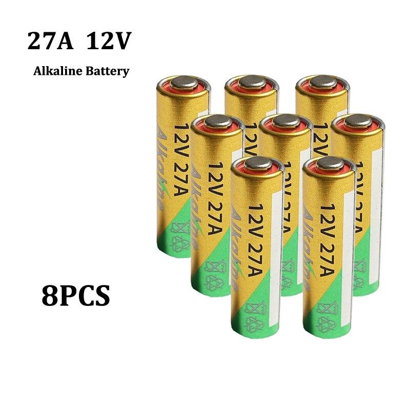8 Uds nuevo 27A 12V A27 seco Batería alcalina para el timbre...