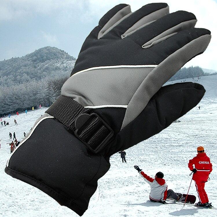 CKAHSBI перчатки лыжные мужские Противоскользящие зимние лыжные перчатки водонепроницаемые для верховой езды горные снегоходы ветрозащитные...