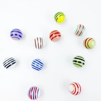 11pcs 20mm glass ball cream console game pinball machine cattle small marbles pat toys parent child beads bouncing ball sports