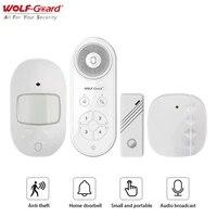 Wolf-Guard     systeme de securite domestique sans fil  avec detecteur de mouvement antivol  pour maison  bureau et hotel